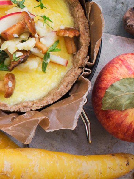 Chanterelle mushroom pie the Scandinavian way