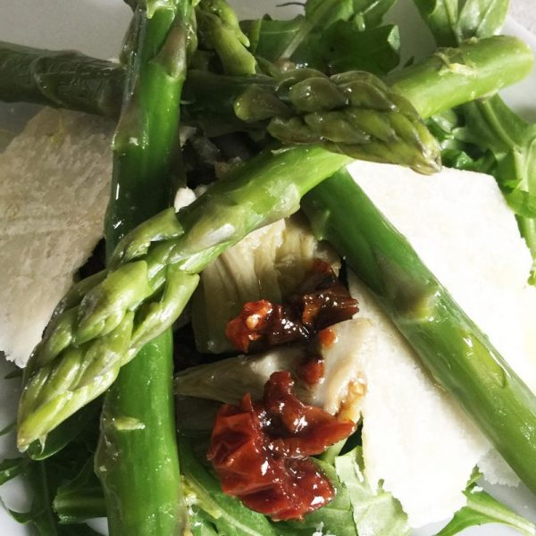 Asparagus and Artichoke Starter with Parmesan Cheese