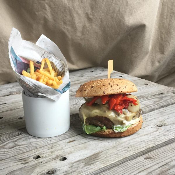 Piquillo pepper burger